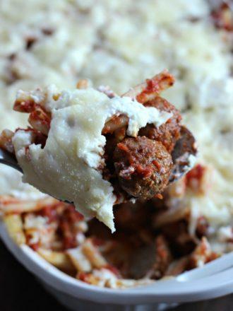 meatball pasta bake hero