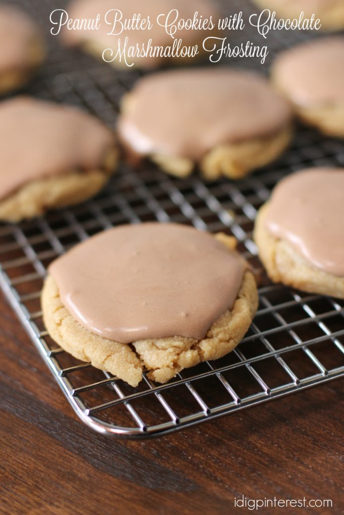 peanut butter cookies with chocolate marshmallow frosting3