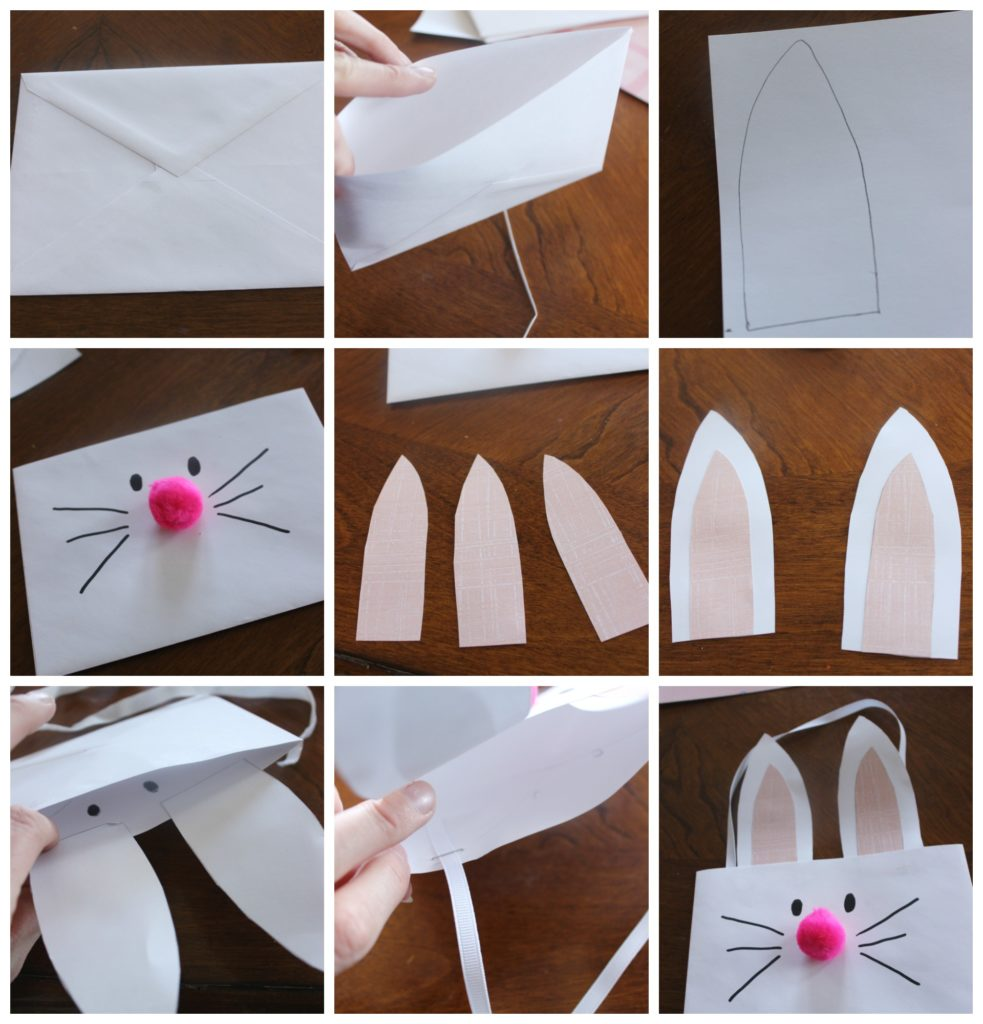 bunny pouch kids' craft collage