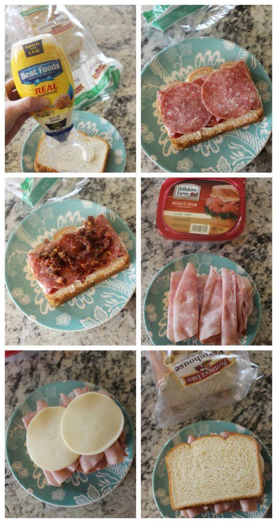 italian sandwich collage