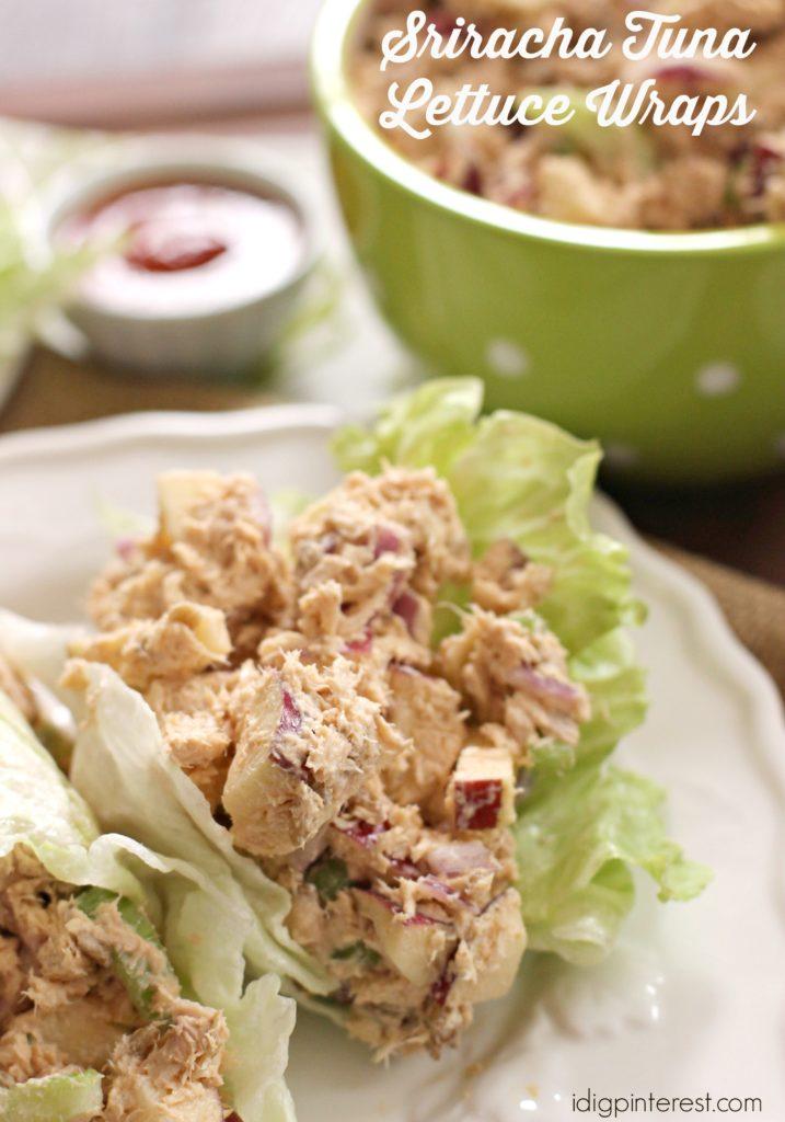 sriracha tuna lettuce wraps1