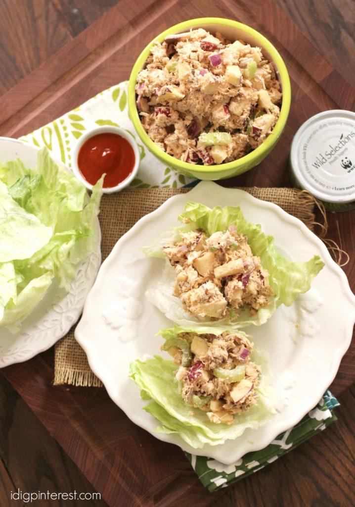 sriracha tuna lettuce wraps5