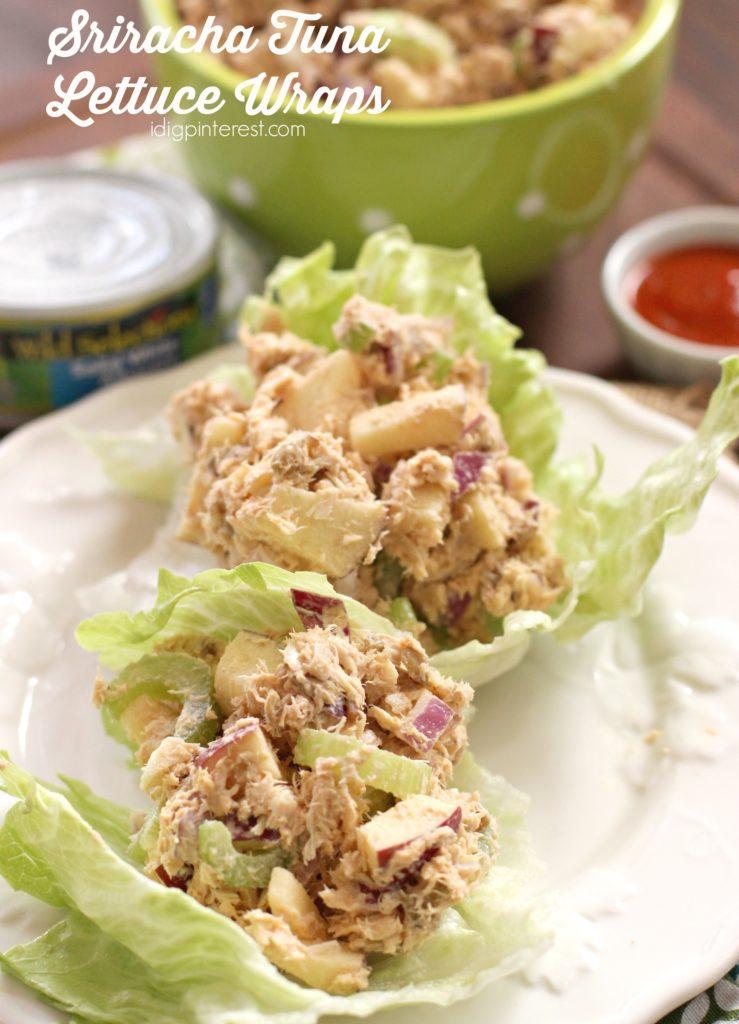 sriracha tuna lettuce wraps6