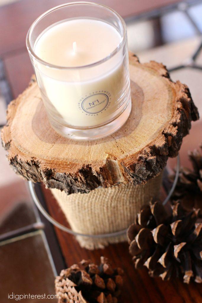 wood round candle holder1