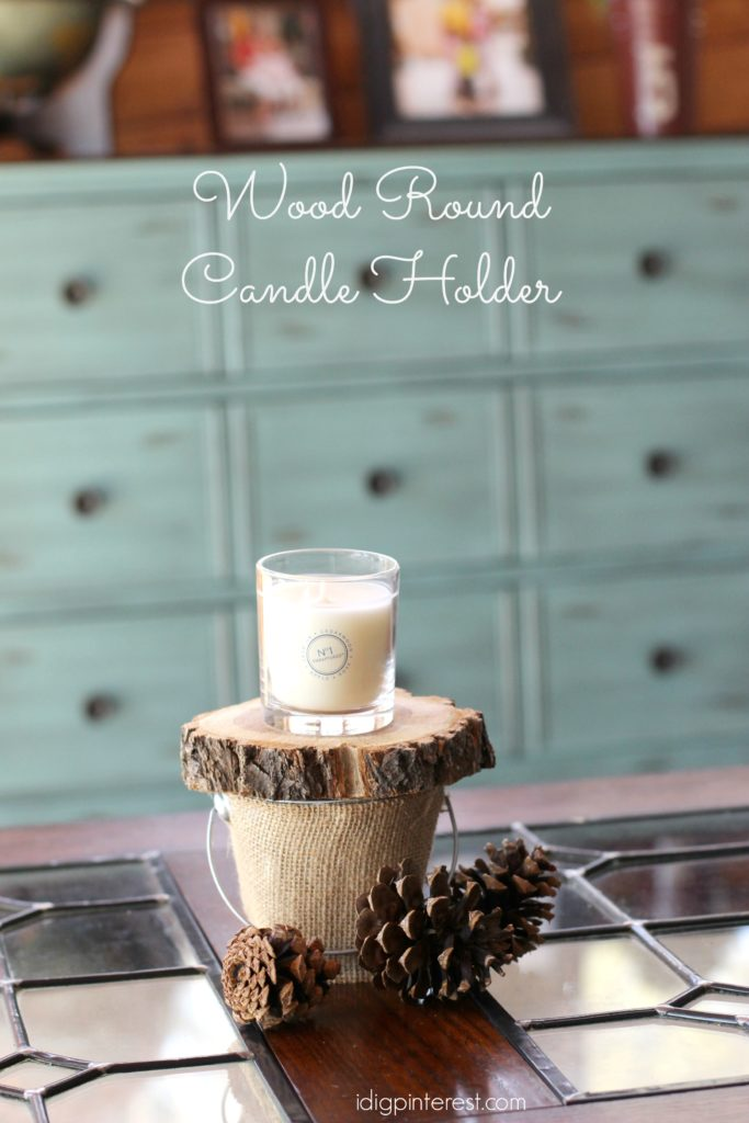 wood round candle holder2