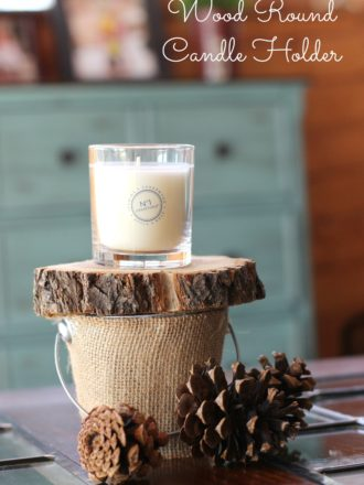 Wood Round Candle Holder Craft