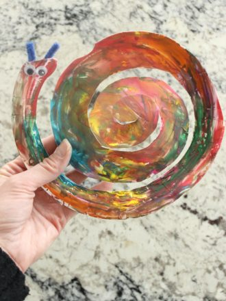 Paper Plate Finger-Painted Snail Craft