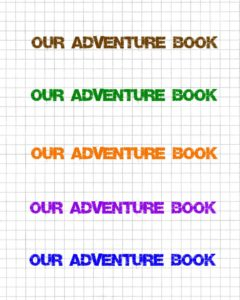 Our Adventure Book Printable