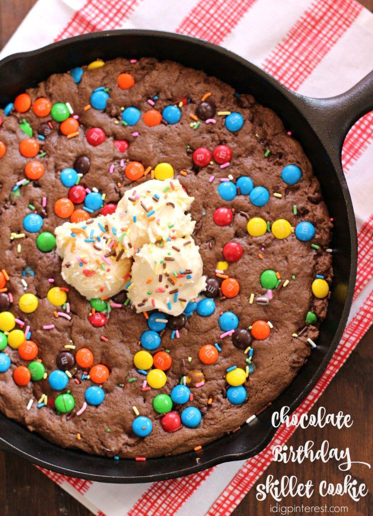 chocolate birthday skillet cookie2
