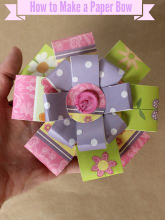 Paper Bow Tutorial and Mother's Day Gift Shopping with Groupon
