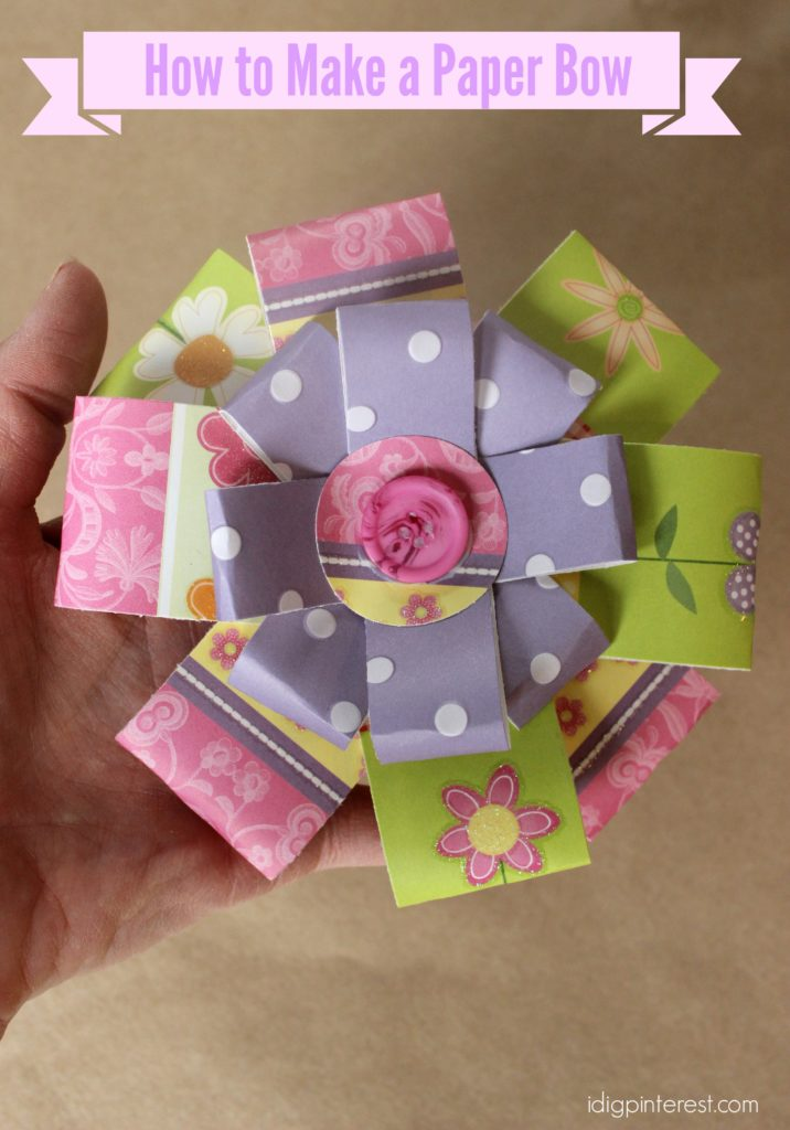 how to make a paper bow1