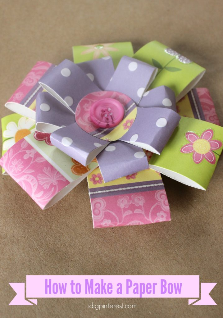 how to make a paper bow2