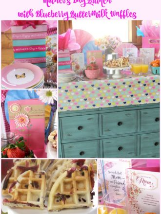 Mother's Day Brunch Buffet with Blueberry Buttermilk Waffles