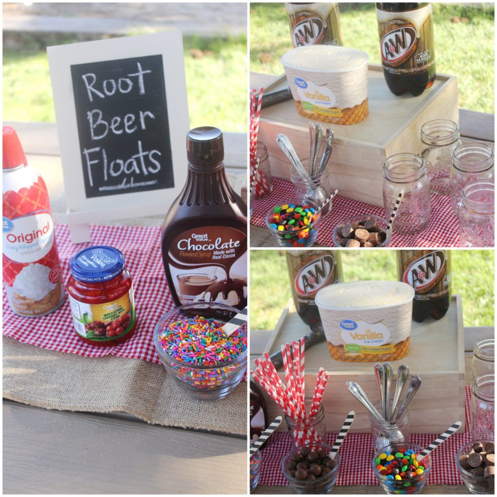 A&W Root Beer Float Bar Collage