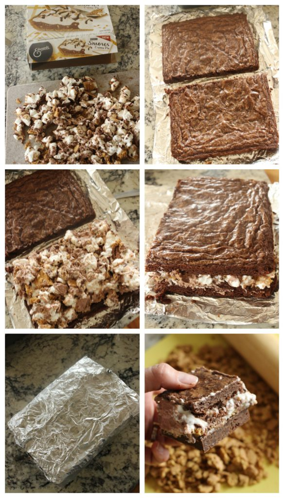 brownie s'mores creme sandwiches collage2