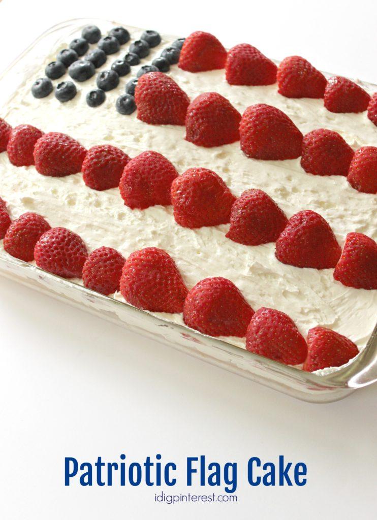 patriotic flag cake2
