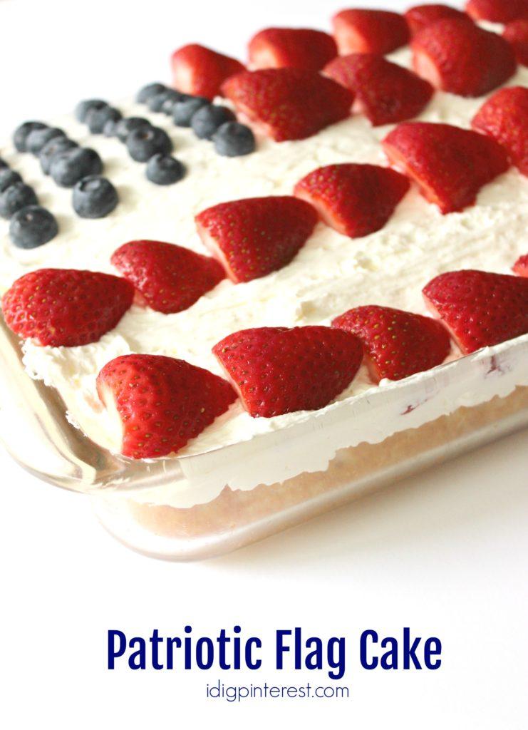 patriotic flag cake5