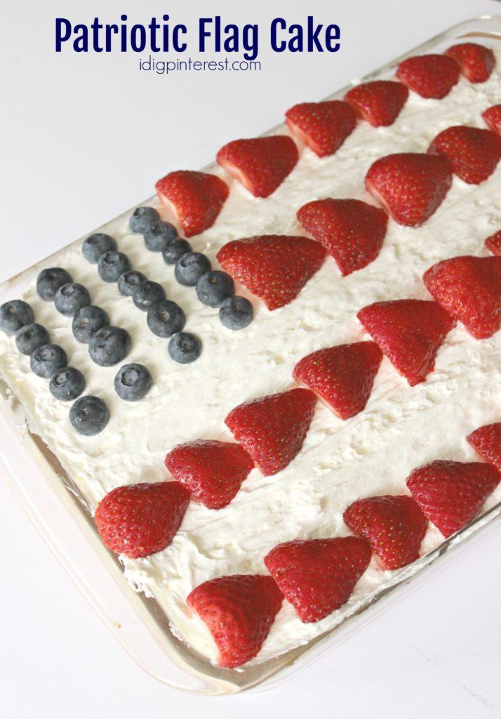 patriotic flag cake6