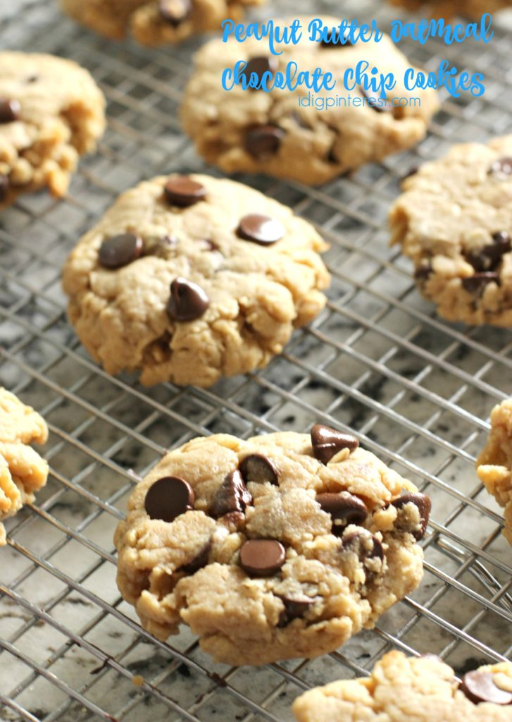 peanut butter oatmeal chocolate chip cookies2