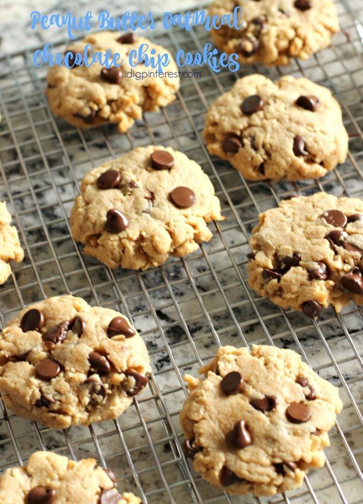 peanut butter oatmeal chocolate chip cookies4