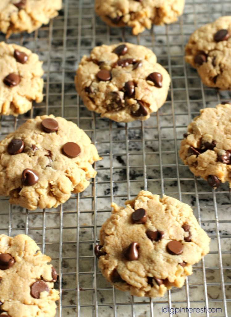 peanut butter oatmeal chocolate chip cookies5