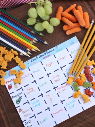 Printable Lunch Box Planner Sheet