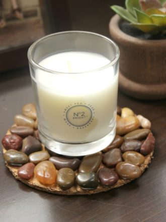 River Stone Candle Coaster