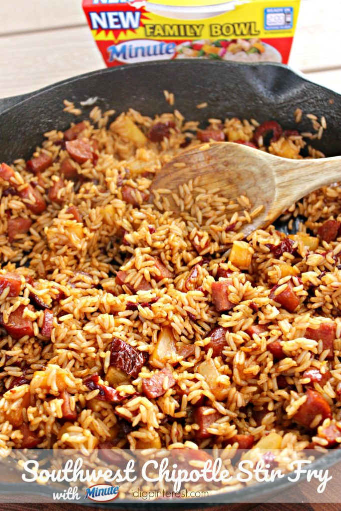 southwest chipotle stir fry with minute rice