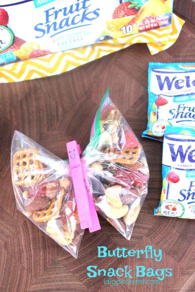 Butterfly Snack Bags Amp Trail Mix I Dig Pinterest