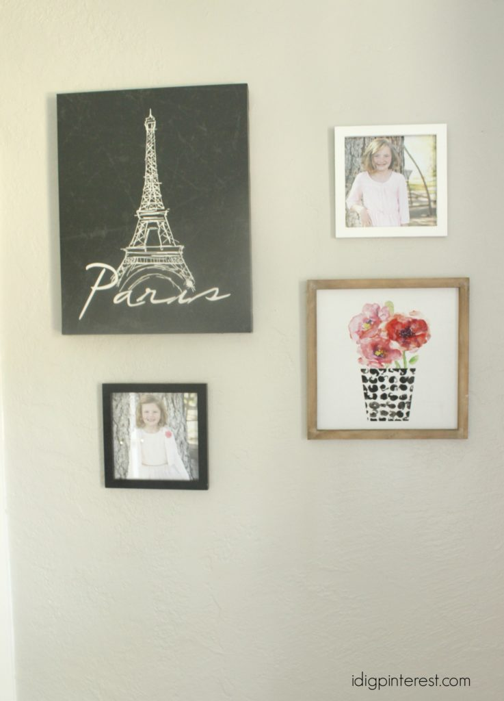 paris room collage wall