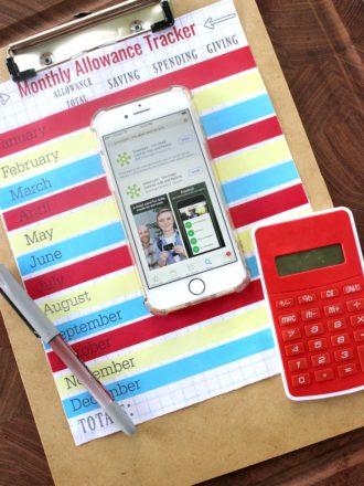 Teaching Kids Money Management & Monthly Allowance Tracker