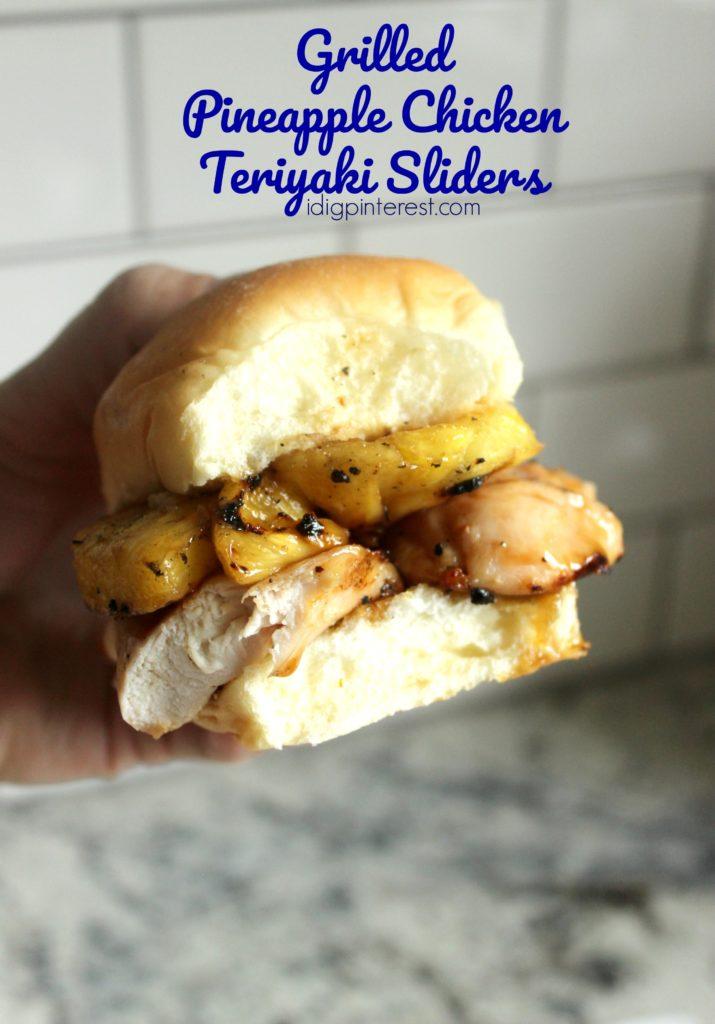 Grilled Pineapple Chicken Teriyaki Sliders