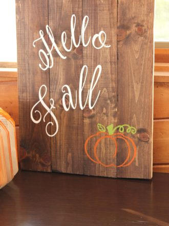 Preparing the Home to Host Guests and DIY Hello Fall Sign