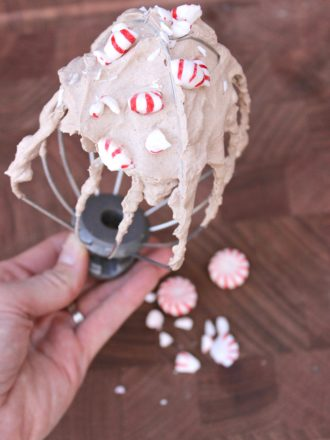 Peppermint Chocolate Whipped Cream