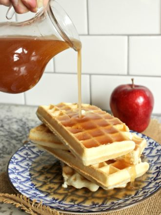 Waffles with Apple Cider Syrup