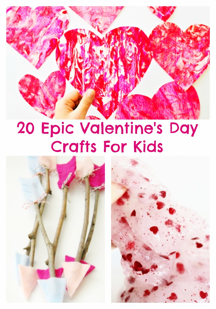 20 Epic Valentines Day Crafts For Kids I Dig Pinterest