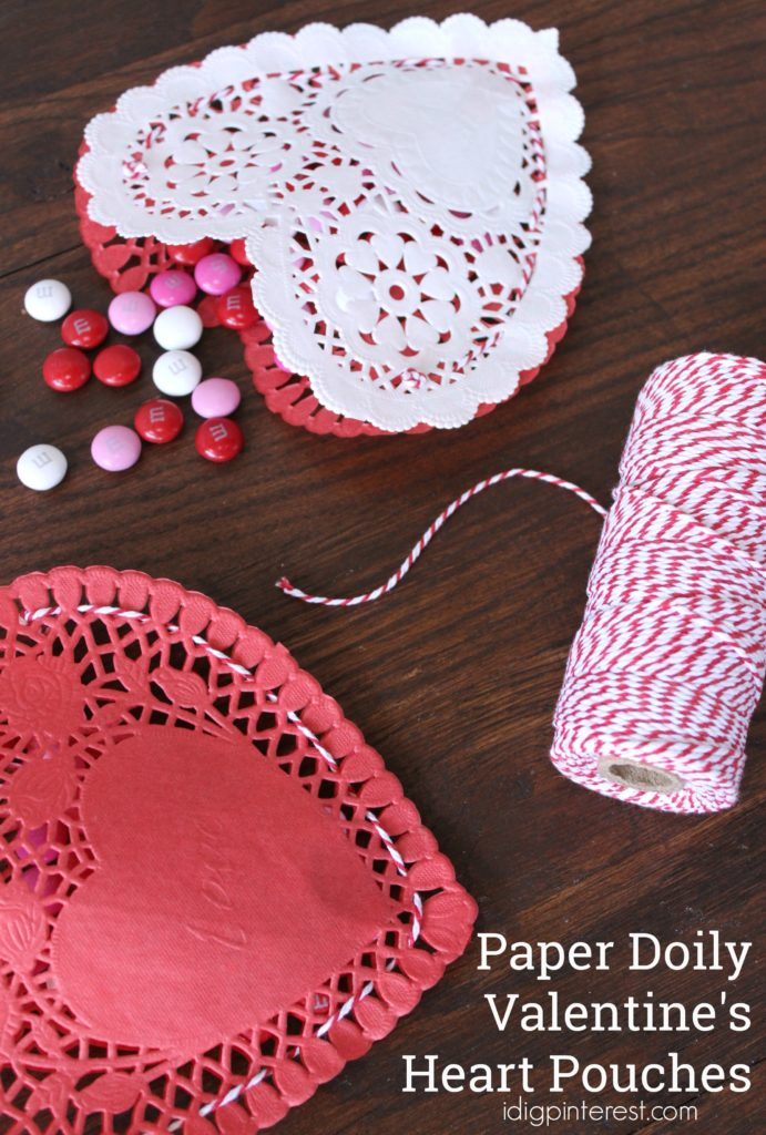 Paper Doily Valentines Heart Pouches I Dig Pinterest