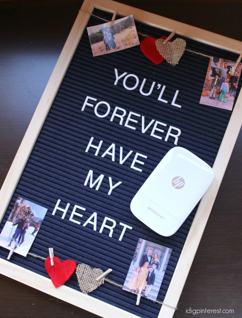 Creating A Valentine S Day Photo Letterboard I Dig Pinterest