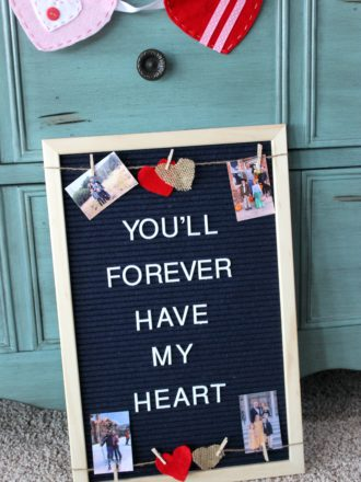 Creating a Valentine's Day Photo Letterboard