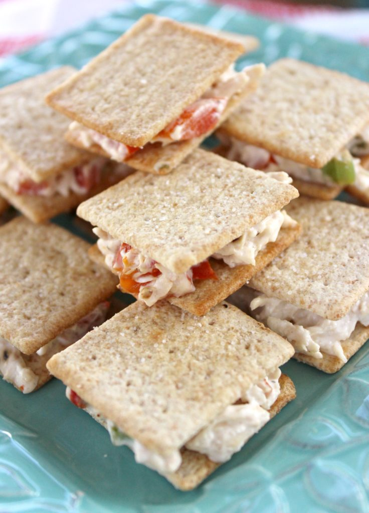 Roasted Red Pepper Chicken Salad Wheat Thins Snacks Sandwiches I