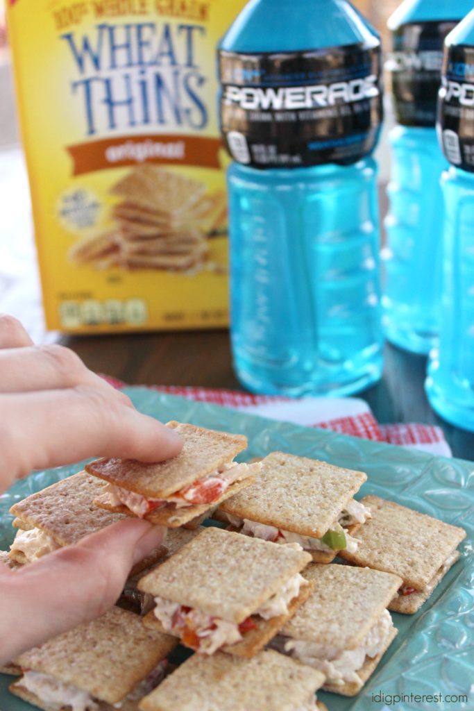 Roasted Red Pepper Chicken Salad WHEAT THINS Snacks Sandwiches