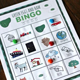 Dr. Seuss Green Eggs and Ham Bingo